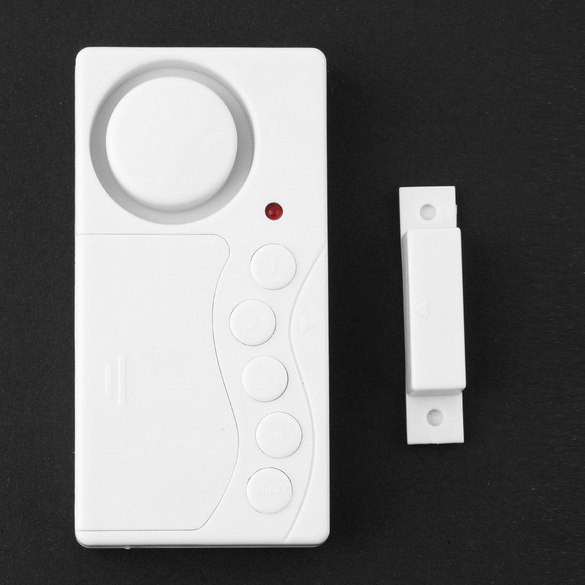 LESHP Magnetic Sensor Wireless Alarm System Door Window Motion Burglar Entry Security Home Guarding 105dB With LED Indicator