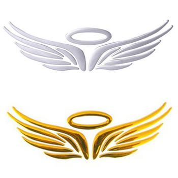 New 3D Angel Fairy-Wings Pattern Car Auto Truck Badge Sticker Windshield Door Decor image