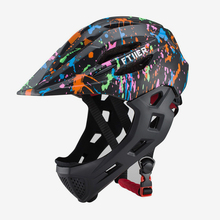 Cycling-Helmet Mountain-Bike Off-Road-Safe Full-Face Visor Kids for Mtb with Rear-Light-Protective