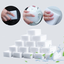100 Pcs Kitchen Bowl Stove Cleaner Cleaning Sponge Multi-functional Magic Sponge Eraser For Kitchen Bathroom Cleaning Tools