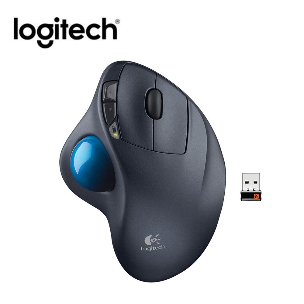 Logitech M570 2.4GHz Wireless Trackball Mouse 540DPI Ergonomic Mouse For Desktop Laptop PC Computer With Micro Wireless Receiver