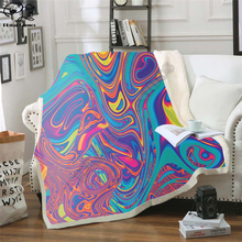 Oil Spill Fleece Blanket Plush 3d Printed for Adults Sofa Sherpa Fleece Bedspread Wrap Throw Blanket