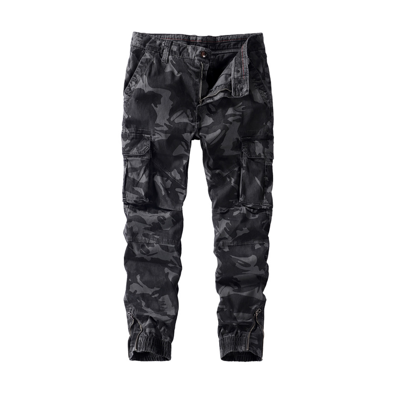 Dropshipping 2019 Autumn Winter Mens Jogger Sknny Camouflage Military Tactical Pants Men 100% Cotton High Quality Jogger Pants
