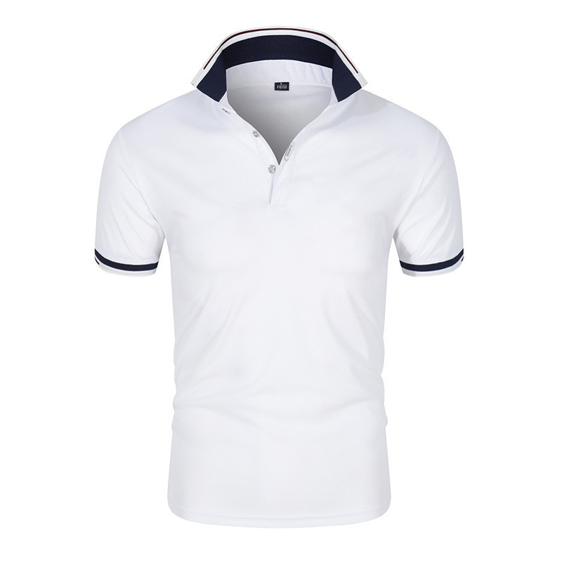2021 new summer Homme short-sleeved polo shirt men's business lapel fashion casual slim breathable letters British couple Tops