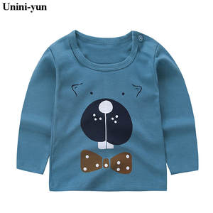 Tee Tops T-Shirt Girl's Long-Sleeved Cotton Autumn Cute Spring Cartoon Fashion 9m12m18m24m6m