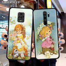TPU Case For Xiaomi Redmi Note 7 8 9S 9 Pro Max 8T 6 7A 8A K20 K30 Pro Black Slim Silicone Case Cover Sarah Kay