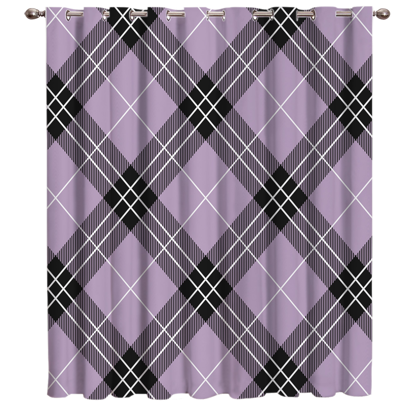 Traditional English Tartan Window Treatments Curtains Valance Living Room Kitchen Fabric Kids Curtain Panels With Grommets