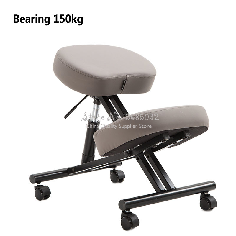 PU Kneeling Chair Ergonomic Posture Correcting Knee Stool For Back Support Neck Pain Computer Desk Office Chair Bearing 150kg