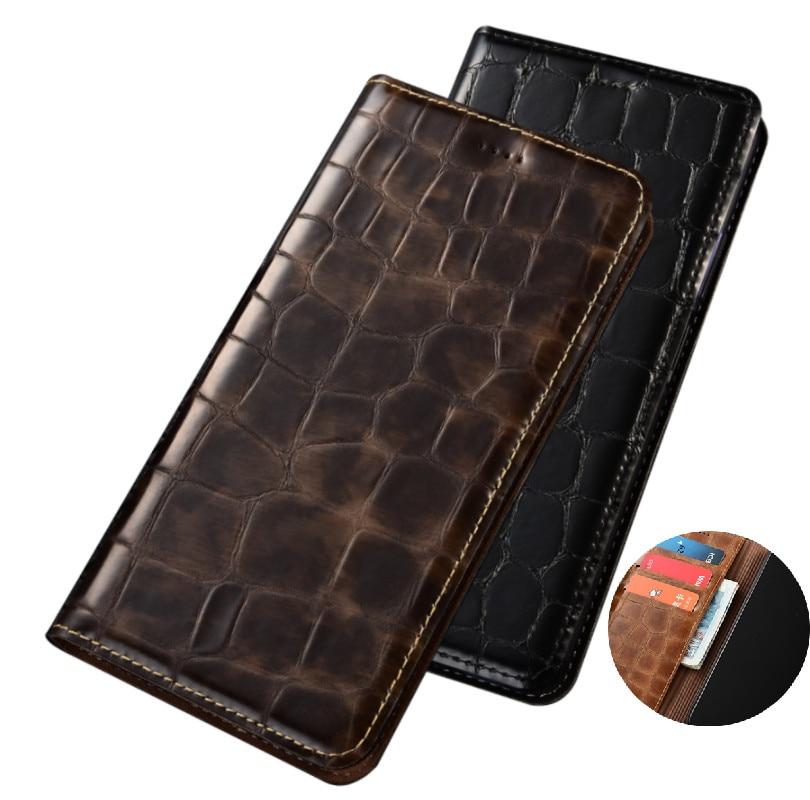 Luxury Genuine Leather Wallet Phone Bag Card Slot Holder For Asus ZenFone 4 ZE554KL/Asus ZenFone 3 Zoom ZE553KL Phone Cover Case