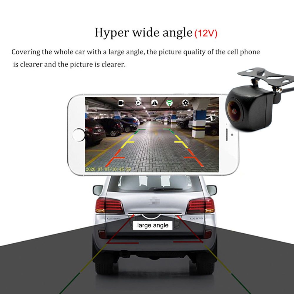 lowest price Upgrade Mini Wifi HD Car Rear View Camera Night Vision Vehicle Reverse Camera Waterproof Wireless For IOS and Android