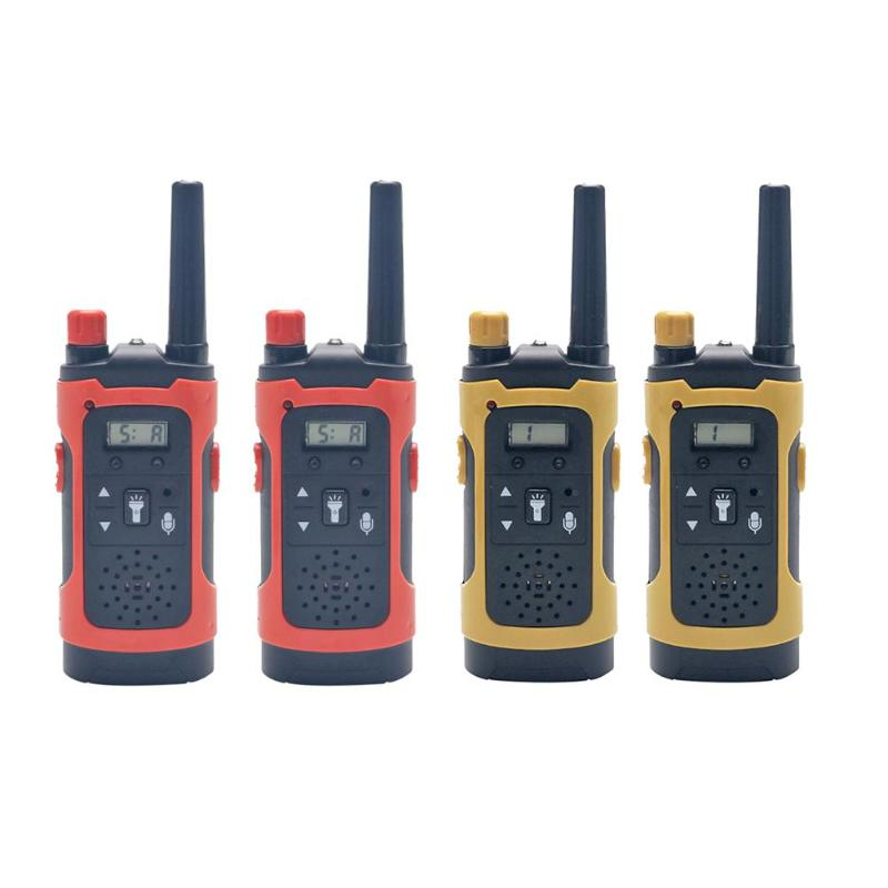 1 Pair Mini Handheld Walkie Talkies Exercise Judgment And Discrimination Kids Two-Way Radio Wireless Communicator
