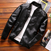Thoshine Brand Spring Autumn Men Leather Jackets Classic Slim Fit Male PU Leather Coats Motorcycle Biker Streetwear Smart Casual 2