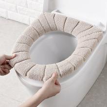 Моющимся матрасовым Ванная комната туалет сидение для унитаза крышка для унитаза коврик для домашнего декора теплый мягкий коврик Ванная к...