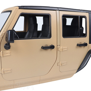 Image 5 - Jeep wrangler jk rubicon 4 portas, kit de concha de corpo rígido, 1/10mm, base de rodas para carros, axial scx10 90046 90047 rgt ex86100