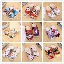 Unisex lovely Home Slippers Warm Cartoon Anime ONE PIECE Pokemon Warm Shoes Cosplay Cartoon Cotton slippers shoes Winter. one size winter warm lovely animal panda slippers home for men