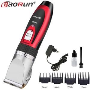 Image 4 - Baorun Professional Hair Trimmer Rechargeable Mens Hair Clipper Cordless Hair Cutting Machine Hair EU Plug