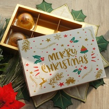 22*15*5cm 5pcs Gold Star Merry Christmas Paper Box As Macaron Chocolate Cookie Party Handmade Gifts Packaging