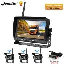 Jansite 7 дюймов Беспроводная Автомобильная камера заднего вида