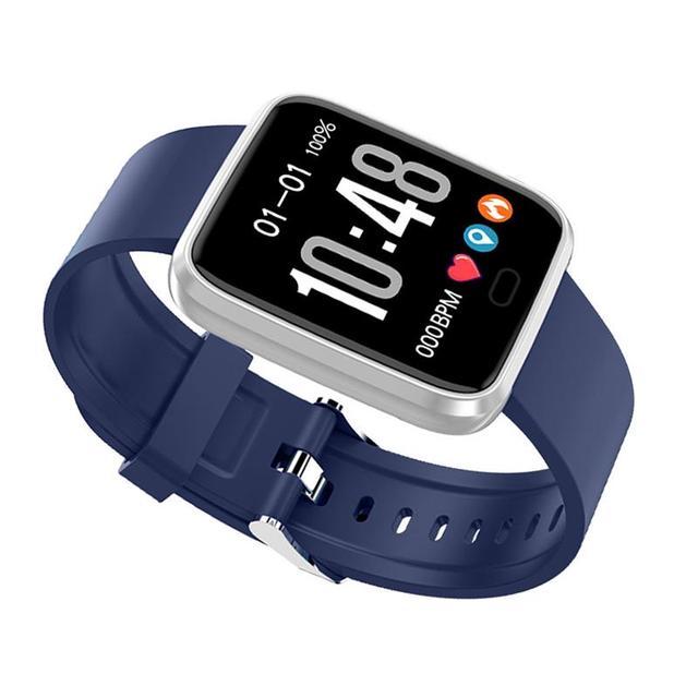 New Bluetooth Smart Watch Fitness Tracker with Heart Rate Blood Pressure Detector Waterproof Sleep Bracelet, Blue/Red/Black 1