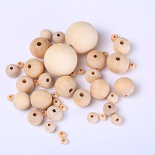 6-30mm Environmental Protection Wooden Beads DIY Wood Color Hemu Loose Baby Pacifier Chain Necklace Jewelry Wholesale