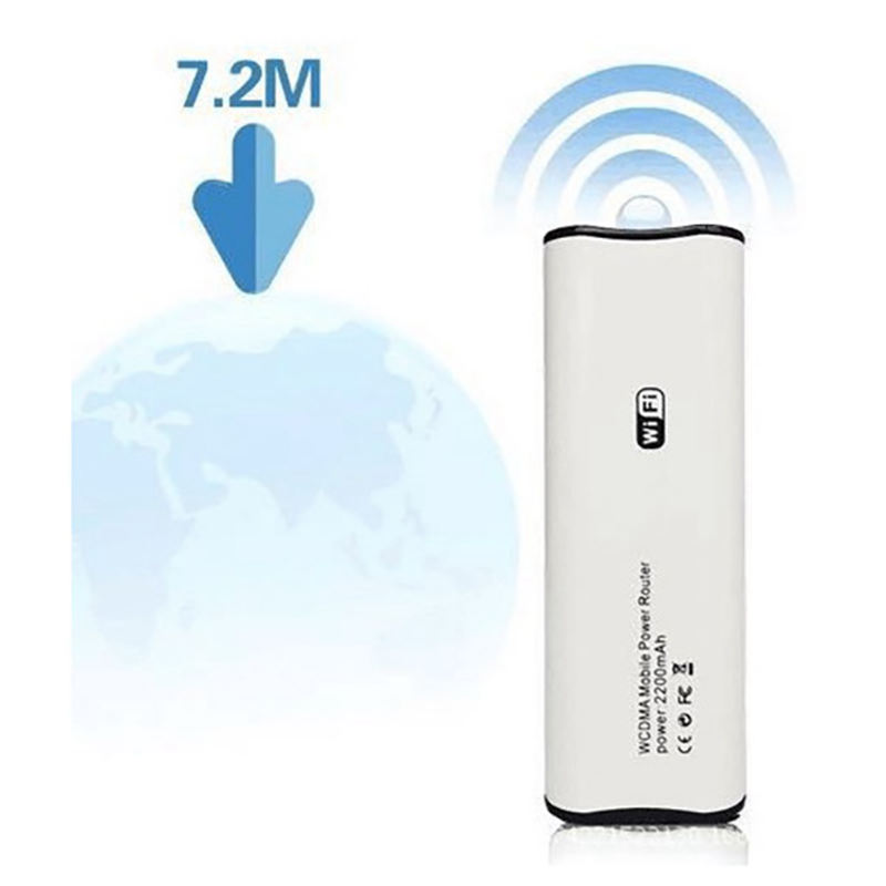 Wireless 3G Mobile Wifi Router 2200 Mah Power Bank Mobile Broadband Modem Portable Network Card Hotspot Wifi Modem Support Sim C