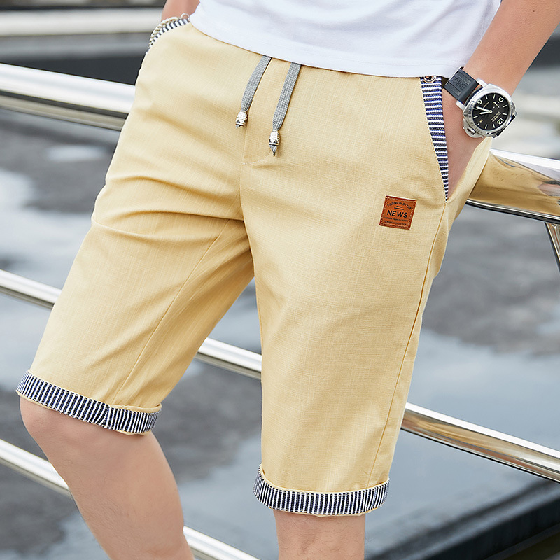 Men Casual Summer Plaid Patchwork Pockets Buttons Fifth Pants Loose Beach Shorts Male Summer Sports Workout Bottoms Clothing 4