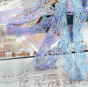 Image 1 - 2 メートル/ロット 2.6 センチメートル幅高品質黒、白、青のレースの縫製リボンギピュールヴェネツィアレーストリム生地経編diy