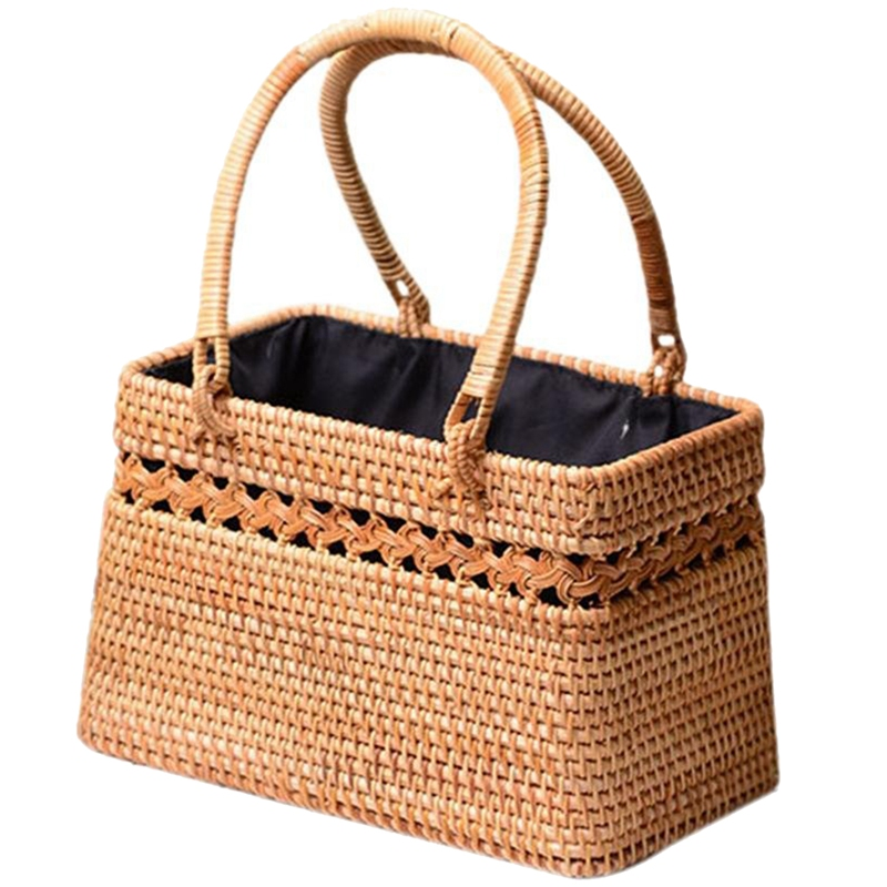 Straw Bag For Women Handmade Tote Bag Natural Chic Handbag With ...
