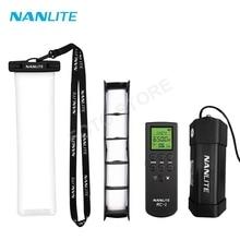 Nanlite PavoTube II 6C ışık aksesuarları su geçirmez çanta Eggcrate softbox ızgara uzaktan kumanda tripod pil yuvası