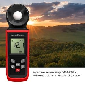 Luminômetro portátil 0-100000 lux do medidor de luz do luxmeter do fotômetro de digitas do luminômetro do medidor do lux de tasi mini com modo da posse