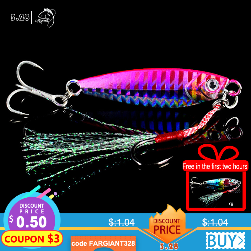 Fargiant Fishing Lure  Light Silicone Bait Wobbler Spinners Spoon Bait Winter Sea Ice Minnow Tackle Squid Peche Octopus