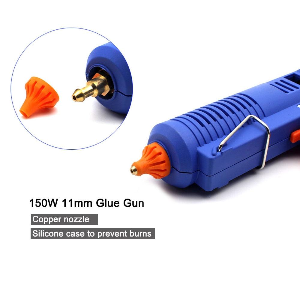 150W EU Plug BULE Hot Melt Lim Gun Gun med temperaturverktyg - Elverktyg - Foto 4