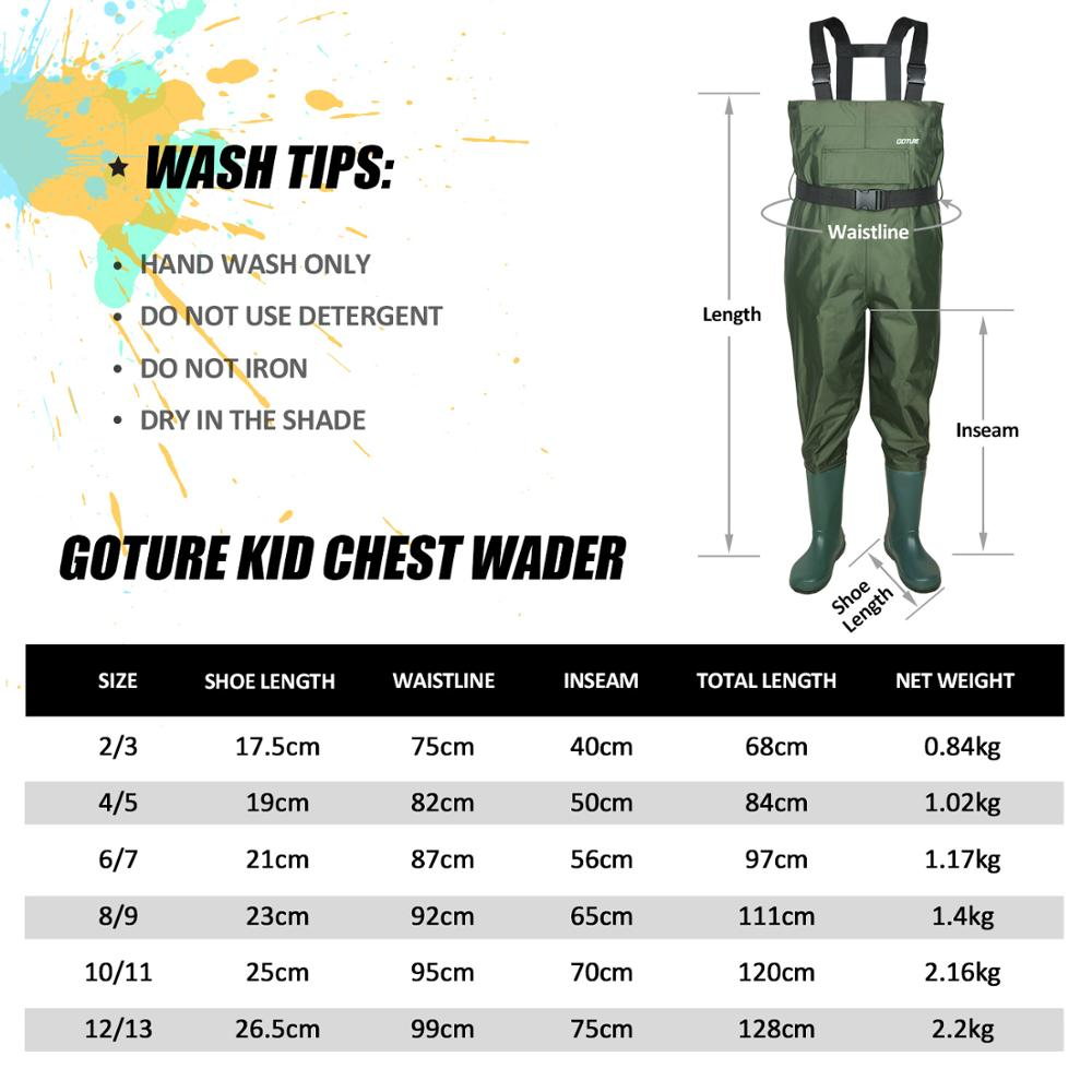 Goture Kids Chest Waders With Boot foot  3