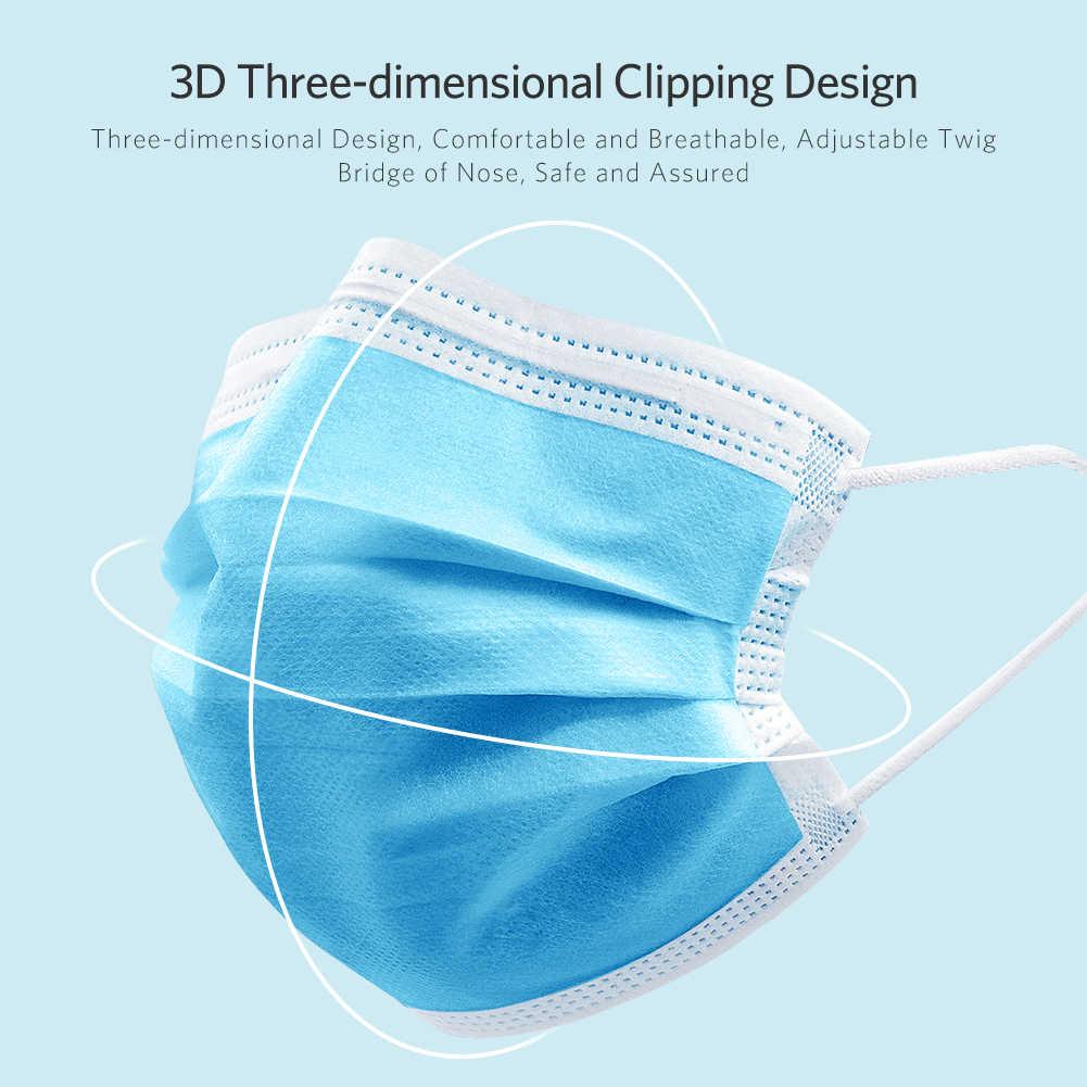 50 шт. одноразовая маска для рта, защита от вирусов, высокое качество, обычные носоупоры для рта, Нетканая маска для лица, Анти-пыль