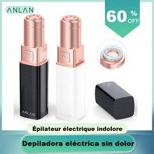 Электрический эпилятор для женщин, безболезненное удаление волос, Женская бритва для верхней части губ и щек, бритва для удаления волос, бритва для зоны бикини, губная помада