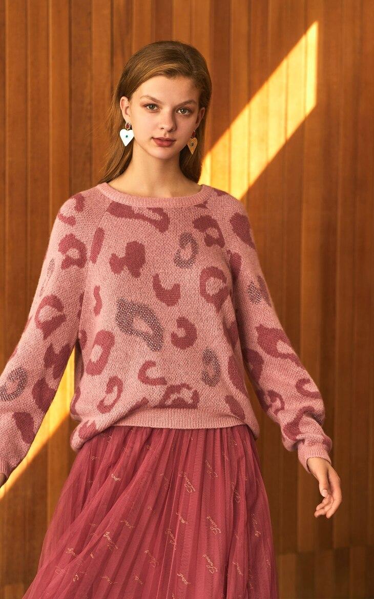 Loose Fit Leopard Animal Print Sweater 2