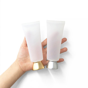 100ml 50pcs/lot Clear Matte Squeeze Bottle Empty Plastic Hose Refillable Storage Hose Packaging Containers Cosmetic Soft Tube
