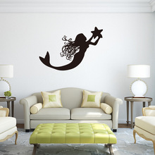 Mermaid swimming pool wall sticker for boys and girls room living decals Home decoration