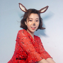 deer cosplay hair band headband for girls festival holiday Halloween chirstmas party supplies Headpiece deer ears headband недорого