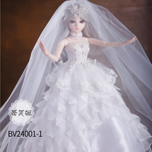 Weding Dress BJD Doll 60cm SD DIY Dolls 18 Ball Jointed DIY BJD Dolls with Clothes Outfit Shoes Wig Hair Make up Dolls for girls