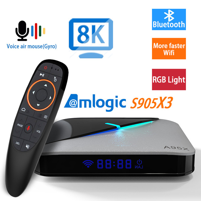 Transpeed Android 10.0 S905X 3 TV BOX 4G 64GROM Set Top Box 8K 3D Youtube Wifi media player TV Receiver  Fast Set Top TV Box