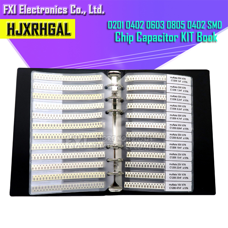 0201 0402 0603 0805 0402 SMD chip <font><b>capacitor</b></font> combination kit 0.5 ~ 10 uf <font><b>pF</b></font> <font><b>capacitor</b></font> sample book all <font><b>capacitor</b></font> sales hjxrhgal image