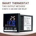 PID цифровой регулятор температуры термостат с 2 выходами K термопары зонд высокое качество SSR-40DA теплоотвод