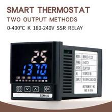 Pid digital controlador de temperatura termostato com 2 saída k sonda termopar alta qualidade SSR-40DA dissipador calor