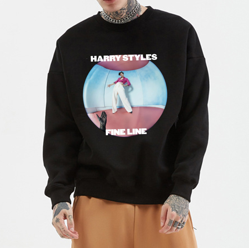 Autumn And Winter Harry Styles Harajuku Round Collar Hoodies Casual O Neck Sportswear Women Men Cotton O-neck Sweatshirts