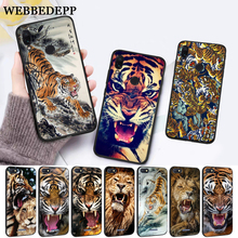 WEBBEDEPP lion tiger Silicone Case for Xiaomi Redmi Note 4X 5 6 7 Pro 5A  Prime все цены