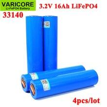 4 قطعة VariCore 3.2V 33140 15Ah lifepo4 خلايا ليثيوم الحديد phospha 16000mAh ل 4S 12v ebike e سكوتر الطاقة أدوات بطارية حزمة