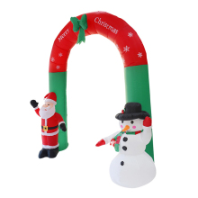 цена на LED Light Snowman Arch Garden Yard Archway  with Pump Christmas Halloween Props Party Blow Up 2.4M Inflatable Giant Santa Claus