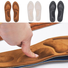 4D Suede Memory Foam Orthotic Insole Arch Support Orthopedic Insoles For Shoes Flat Foot Feet Care Sole Shoe Orthopedic Pads high heel insole feet sponge cushion sole orthopedic insoles shoe pads forefoot insoles shoes accessories