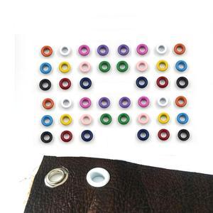 Image 4 - Ojales de Metal con agujeros de 11 colores variados para manualidades, cuero, zapatos de Scrapbooking, cinturón, bolsa, etiquetas para ropa, accesorios de moda, 100 Uds.